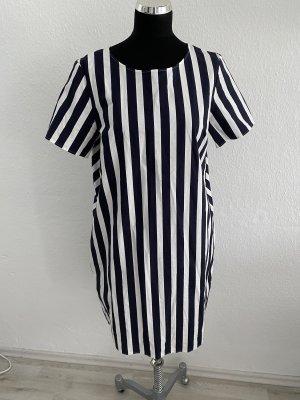 COS Letnia sukienka biały-ciemnoniebieski