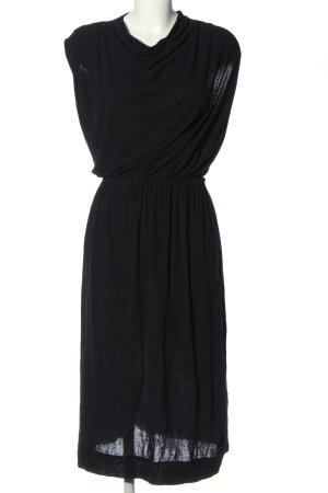 COS Midi-jurk zwart casual uitstraling