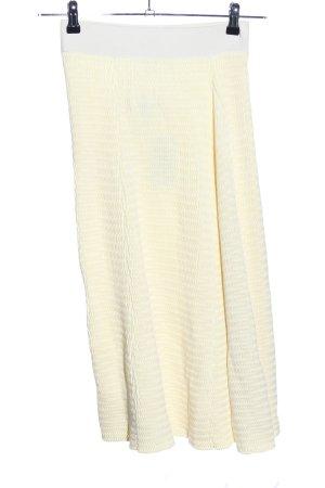 COS Jupe mi-longue jaune primevère-blanc cassé style décontracté
