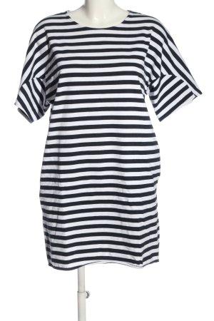 COS Minikleid schwarz-weiß Streifenmuster Casual-Look