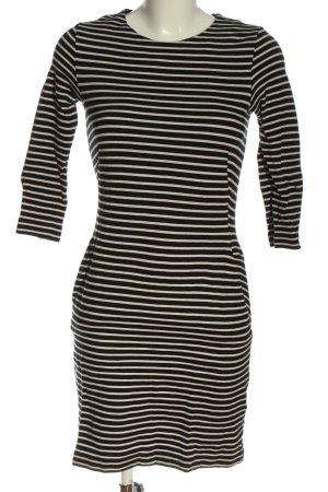 COS Mini vestido negro-blanco estampado a rayas look casual