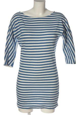 COS Mini-jurk blauw-wit gestreept patroon casual uitstraling