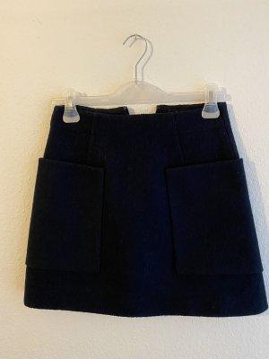 COS Wollen rok donkerblauw Wol