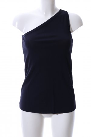COS One Shoulder Top blue casual look