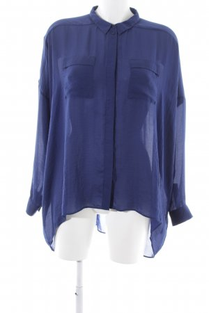 COS Oversized Bluse blau Business-Look