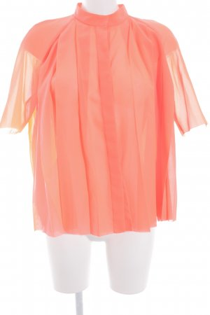 COS Oversized Bluse neonorange Transparenz-Optik