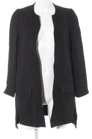 COS Oversized Mantel schwarz Webmuster Casual-Look