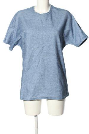 COS Camisa holgada azul moteado look casual