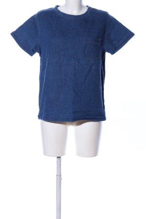 COS Top extra-large bleu style décontracté