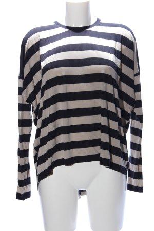 COS Oversized Shirt wollweiß-schwarz Streifenmuster Casual-Look