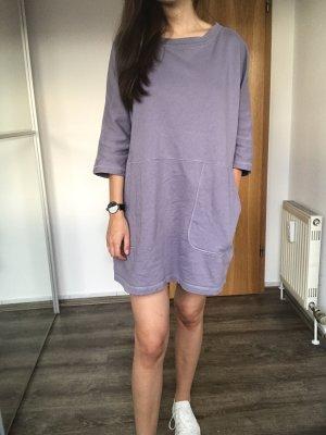 COS Vestido de tela de sudadera gris pizarra