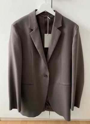 COS Wool Blazer grey brown-light brown wool