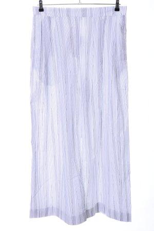 COS Pallazzobroek wit-lichtgrijs gestreept patroon casual uitstraling