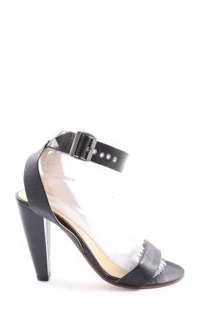 COS Riemchen-Sandaletten schwarz Casual-Look