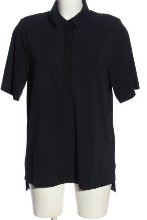 COS Polo-Shirt schwarz Casual-Look