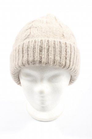 COS Bobble Hat cream cable stitch casual look