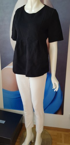 COS Pull à manches courtes blanc-noir
