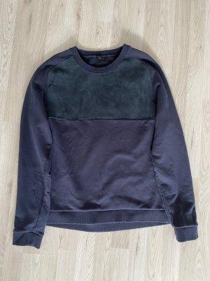 COS Jersey de cuello redondo azul oscuro