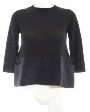 ❤️ COS Pullover S 36 Schwarz Wolle Seide Kaschmir ❤️