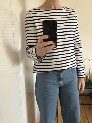 COS Oversized trui wit-zwart Katoen