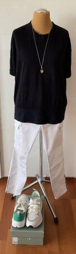 COS Short Sleeve Sweater dark blue cotton