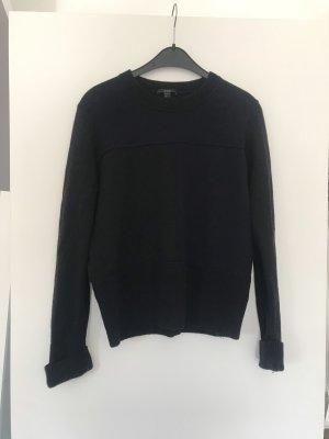 COS Pull en laine bleu foncé-noir