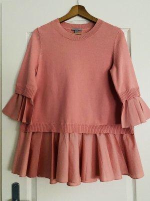 COS Długi sweter różowy-jasny różowy