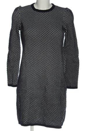 COS Pulloverkleid schwarz-weiß abstraktes Muster Elegant