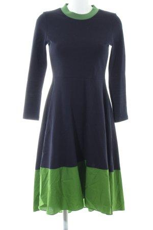 COS Sweaterjurk blauw-groen Katoen