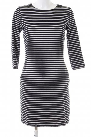 COS Pulloverkleid schwarz-weiß Streifenmuster Casual-Look
