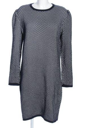COS Swetrowa sukienka biały-niebieski Na całej powierzchni W stylu biznesowym