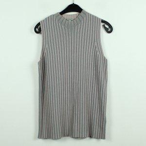 COS Sweter bez rękawów z cienkiej dzianiny szary-różowy