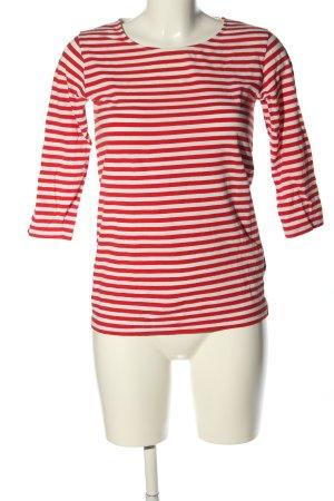 COS Camisa de rayas rojo-blanco estampado repetido sobre toda la superficie