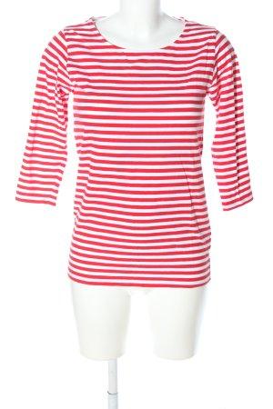 COS Ringelshirt rot-weiß Streifenmuster Casual-Look