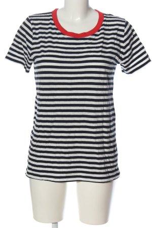 COS T-shirt rayé noir-blanc motif rayé style décontracté