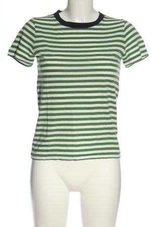 COS Gestreept shirt groen-wit gestreept patroon casual uitstraling