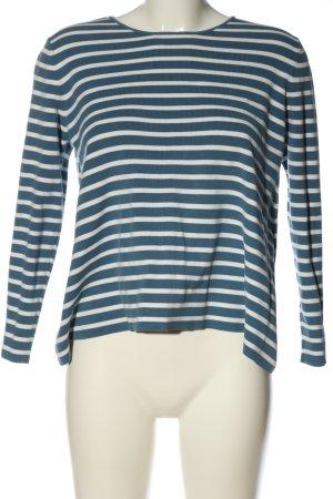 COS Top à manches longues bleu-blanc motif rayé style décontracté