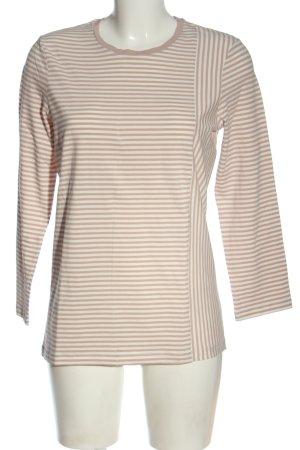 COS Maglietta a righe bianco-rosa stampa integrale stile casual