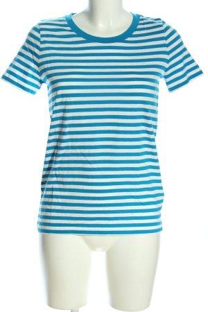 COS Ringelshirt blau-weiß Allover-Druck Casual-Look
