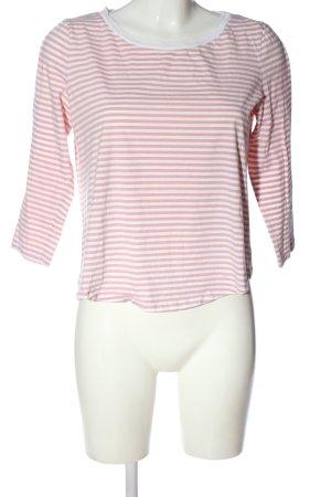 COS T-shirt rayé rose-blanc motif rayé style décontracté