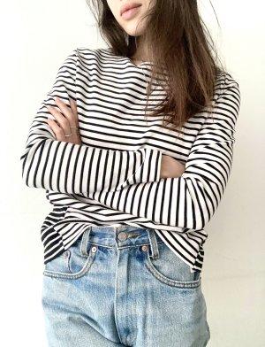 COS Stripe Shirt white-black