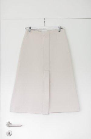 Cos Rock Gr. 34 Vintage Look Midi Skirt Beige Nude Weiß