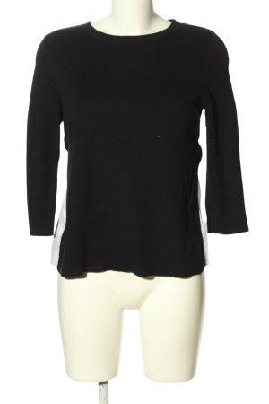 COS Rundhalspullover schwarz-weiß Streifenmuster Casual-Look