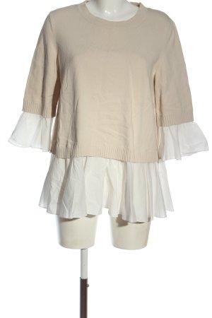 COS Kraagloze sweater nude-wit casual uitstraling