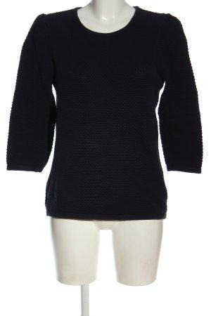 COS Sweter z okrągłym dekoltem czarny W stylu casual