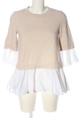 COS Rundhalspullover creme-weiß Casual-Look