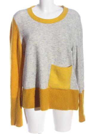 COS Kraagloze sweater lichtgrijs-sleutelbloem gestippeld casual uitstraling
