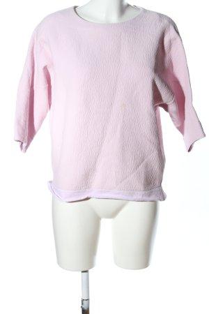 COS Pull ras du cou rose imprimé allover style décontracté
