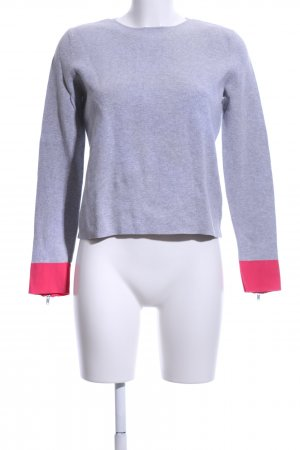 COS Crewneck Sweater light grey-pink flecked casual look