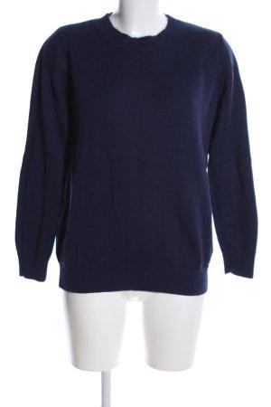 COS Kraagloze sweater blauw casual uitstraling